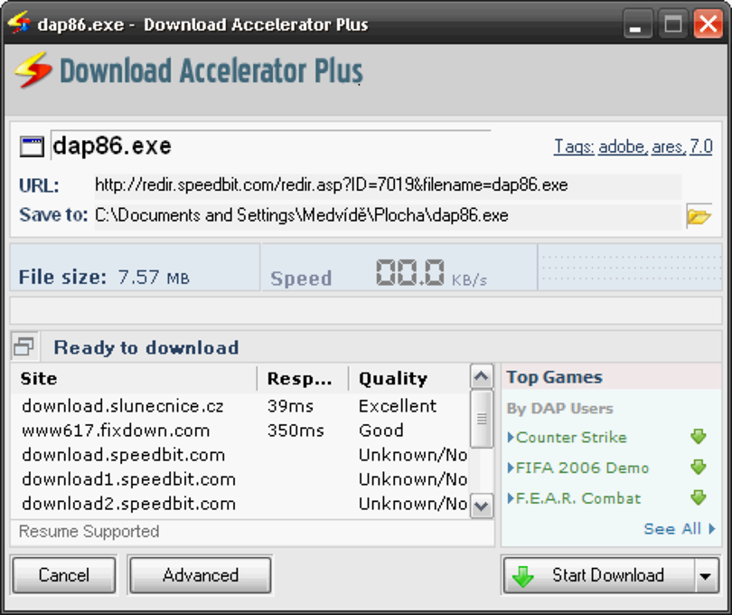 Download Accelerator Plus (https://www.swmag.cz)