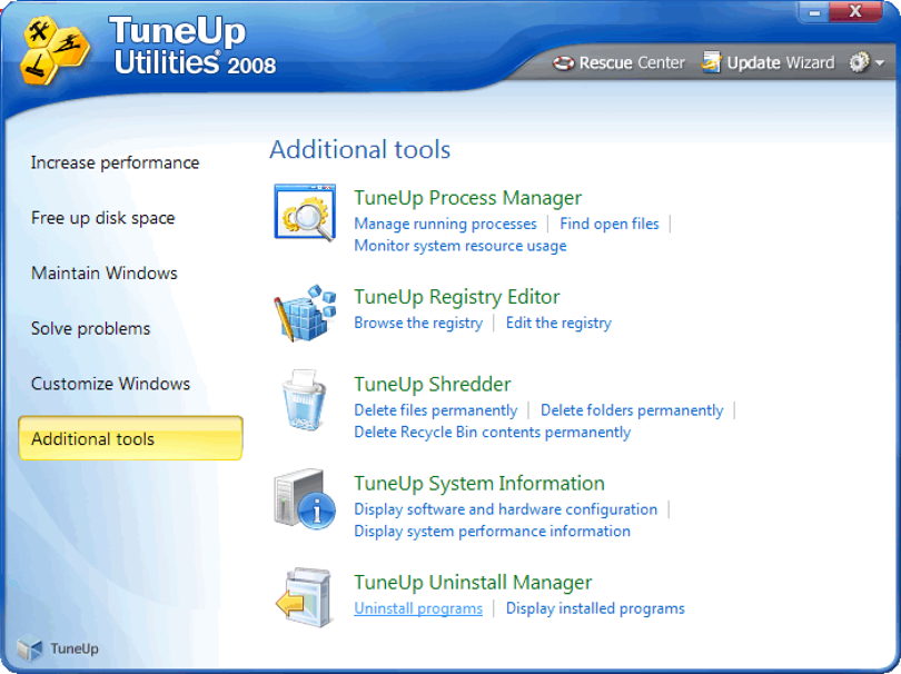 TuneUp Utilities 2008 (https://www.swmag.cz)