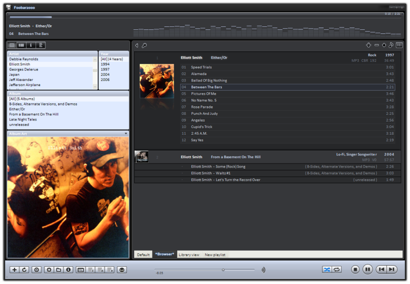 foobar2000 interface