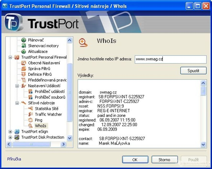 modul Firewall Trust Port PC Security 2009