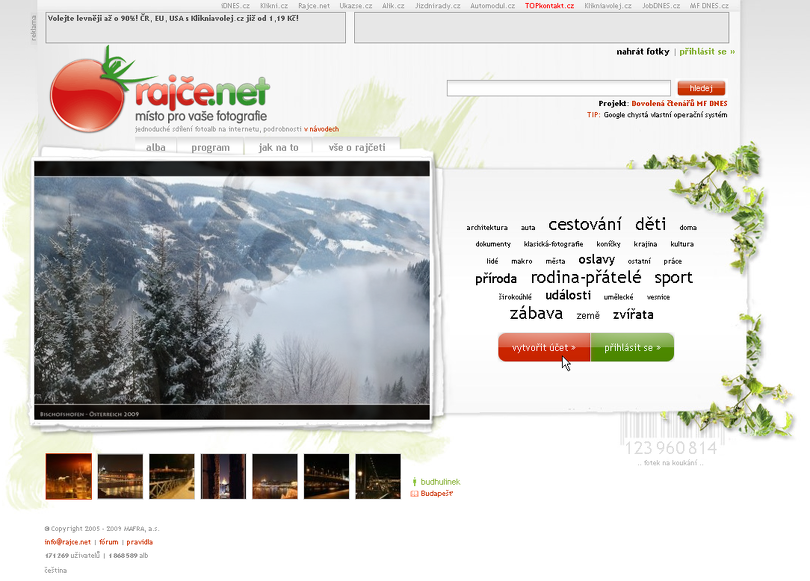 Rajce.net - online úložiště fotek