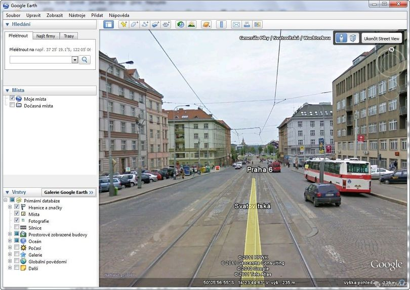 Google Earth a Street View