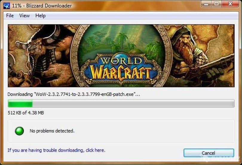 Instalace patche pro hru World of Warcraft