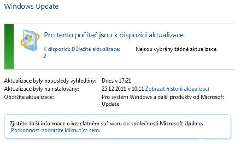 Windows Update– ne vše co nabízí je důležité