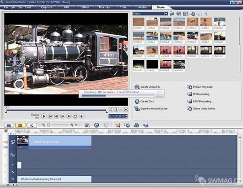 Ulead Video Studio – editace videa