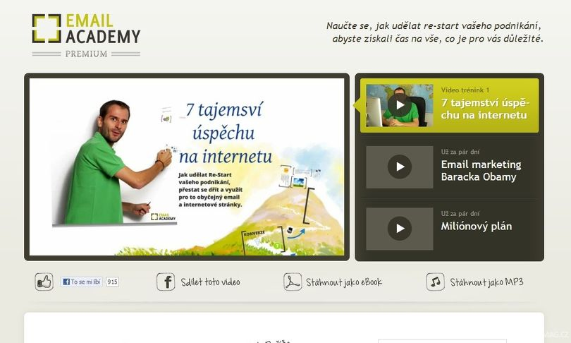 EmailAcademy.cz video