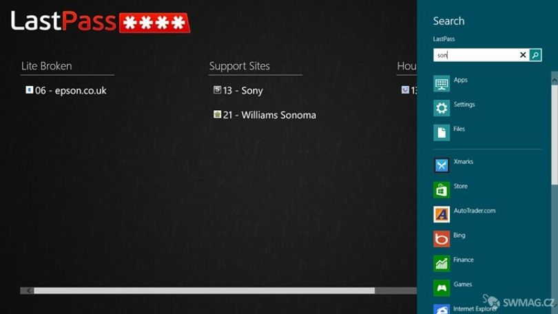 LastPass na Windows 8