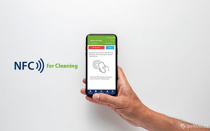 Aplikace NFC for cleaning, zdroj: inspecto.online